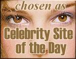 Celebrity Site of the Day Award